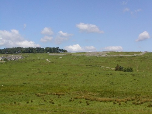 Housesteads Roman Fortの遠景